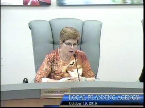 City of Bonita Springs, Local Planning Agency Meeting, October 19th, 2016