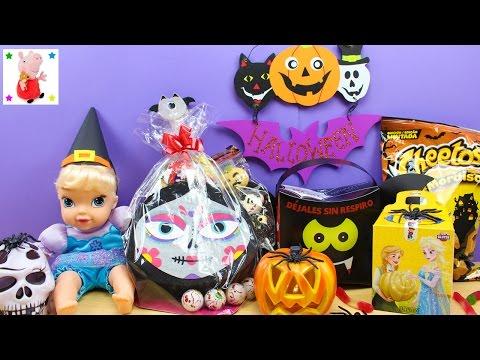 Make Elsa Bebé Frozen abre Golosinas de Halloween en español | Chuches de Halloween para niños Pics