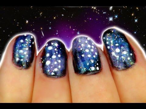 galaxy gel nail art ★  youtube