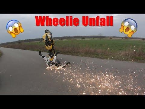 WHEELIE CRASH Mit über 140 Km/h! :O   Kuhlewu