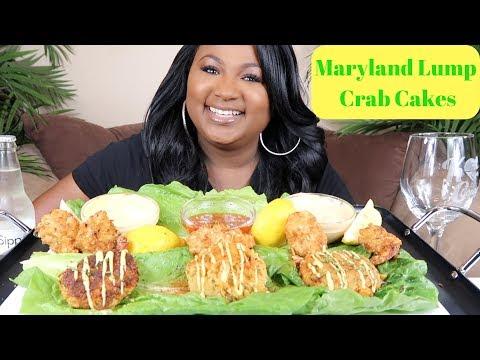 SEAFOOD MUKBANG , MARYLAND LUMP CRAB CAKES , COCONUT SHRIMP