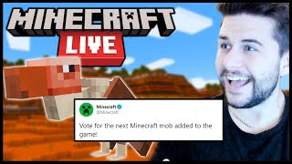 Minecon 2020 ANNOUNCED! Vote For The NEXT Mob In Game (Minecraft Live)