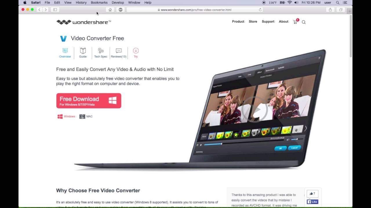 Wondershare Video Converter Free quick review