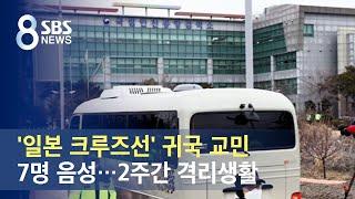 '일본 크루즈선' 귀국 교민 7명 음성…2주간 격리생활…