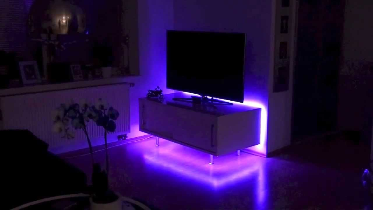 led strip komplettset 5m mit farbwechsel licht design skapetze youtube. Black Bedroom Furniture Sets. Home Design Ideas