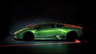 WOW Lamborghini Reventon 3D body mapping diplay on car