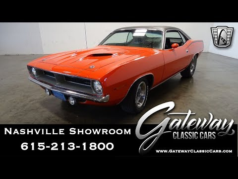 1970 Plymouth Cuda, Gateway Classic Cars Nashville,#1085