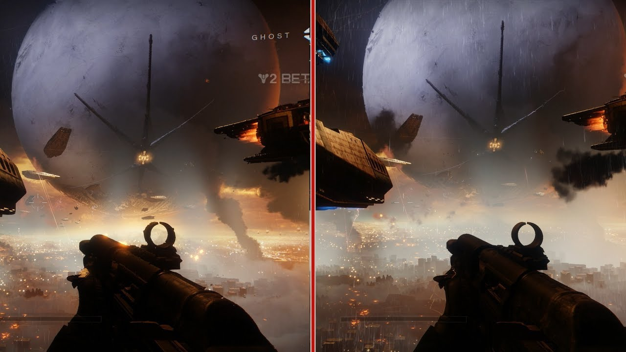 destiny 2 beta graphics comparison xbox one vs ps4 youtube. Black Bedroom Furniture Sets. Home Design Ideas