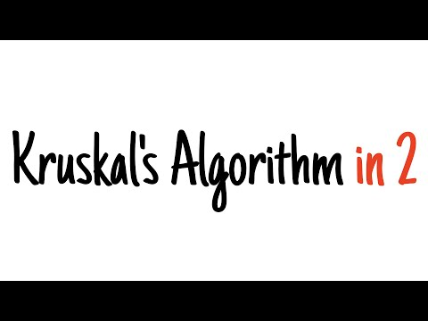 Kruskal's algorithm in 2 minutes — Review and example