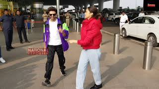 Deepika Padukone LEARN Dance From Kartik Aaryan On Dheeme Dheeme Song Deepika Promotes Kartik Movie