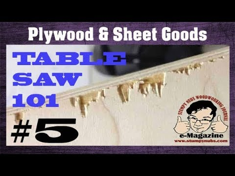 Plywood is difficult to cut on the table saw? Let's fix that...
