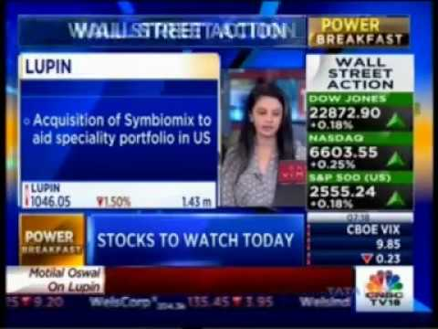 CNBC Power Breakfast 12 Oct 2017, Lupin - Acquisition Of Symbiomix To Aid Speciality Portfolio Is US