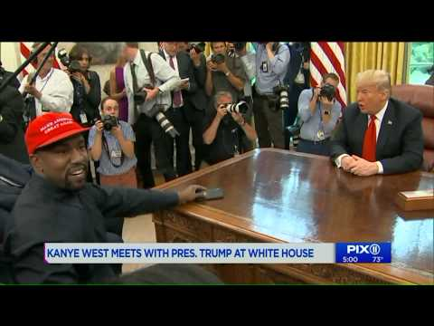 Kanye West talks prison reform, Chicago violence, jobs in free-style riff with President Trump