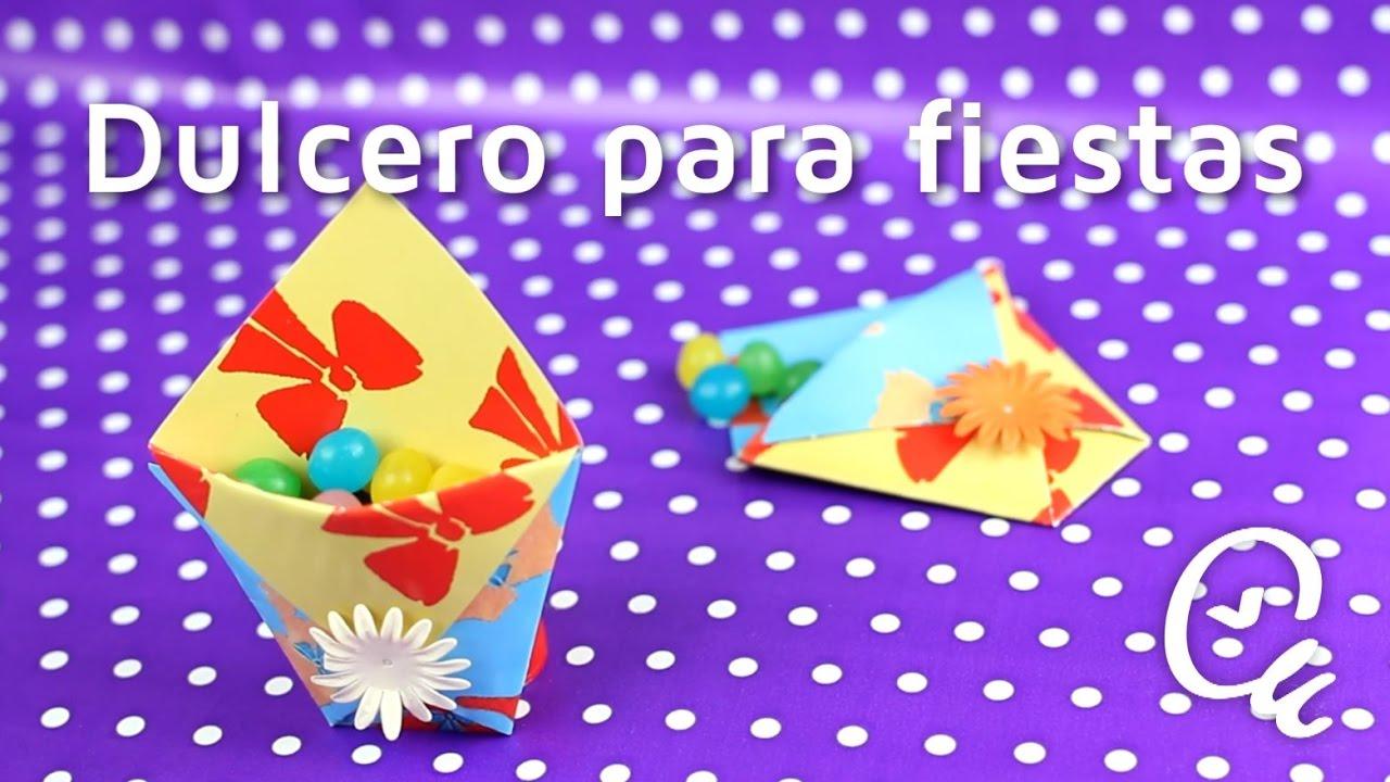 c669228ee Cómo hacer bolsitas de dulces para fiestas con papel | facilisimo.com