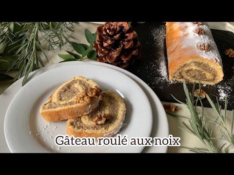recette-de-noel---buche-/-gâteau-roulé-aux-noix