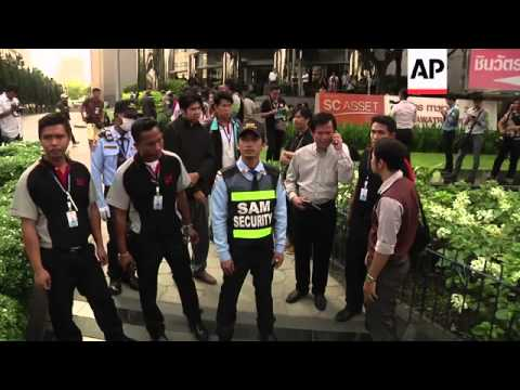 Demonstrators protest outside businesses owned by PM's family