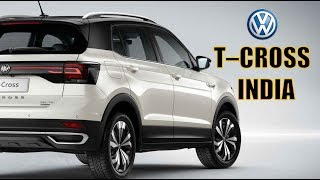 VOLKSWAGEN T-CROSS NEW SELTOS AND CRETA RIVAL INDIA LAUNCH AND ALL DETAILS | T-cross India Launch
