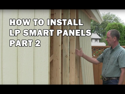 How To Build A Shed How To Install Exterior Lp Siding