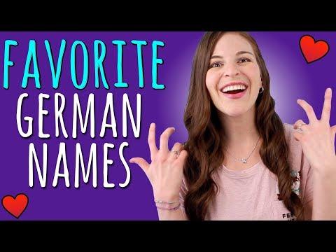 An American's Favorite German Names!!
