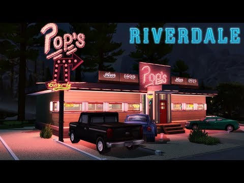 POP'S DINER - RIVERDALE │The Sims 4 (Speed Build) thumbnail
