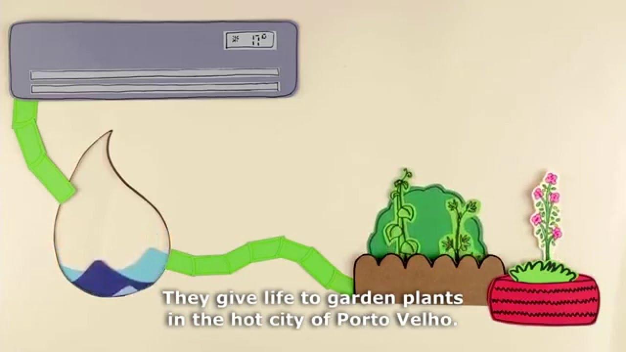Sistema De Garrafa Pet Reaproveita água Do Ar Condicionado Youtube