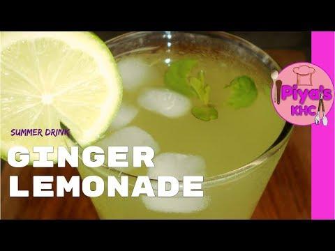 Ginger Lemonade Recipe at Homeby Piya's Kitchen for Home Cooks