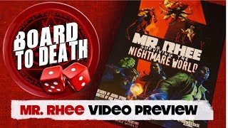 Mr Rhee Board Game Preview Video -  Board to Death TV