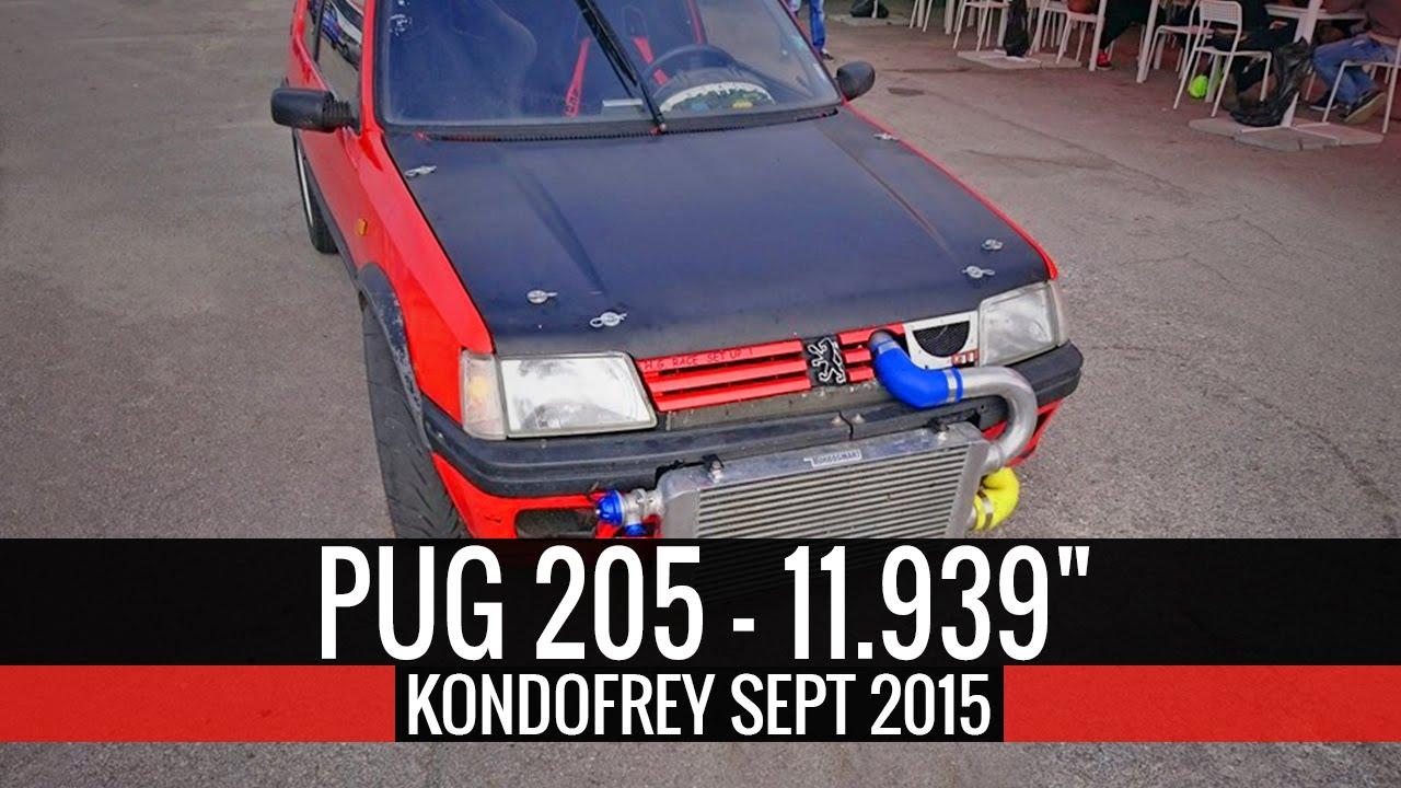 """Peugeot 205 3.0L V6 Turbo 11.939"""" @ 209.56km/h"""