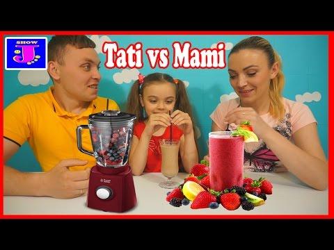 Smoothie Challenge/Mamica vs Taticu/Ghici Ingredientele☺☺☺