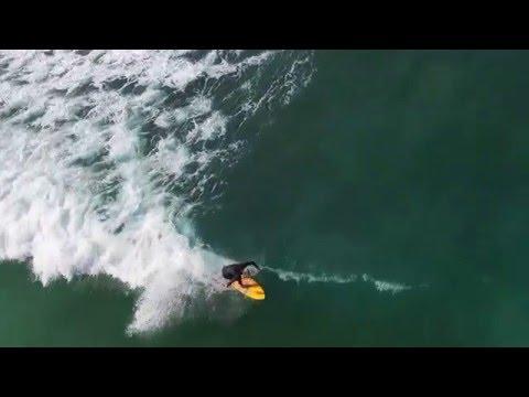 Surfing San Diego Aerial Drone Footage