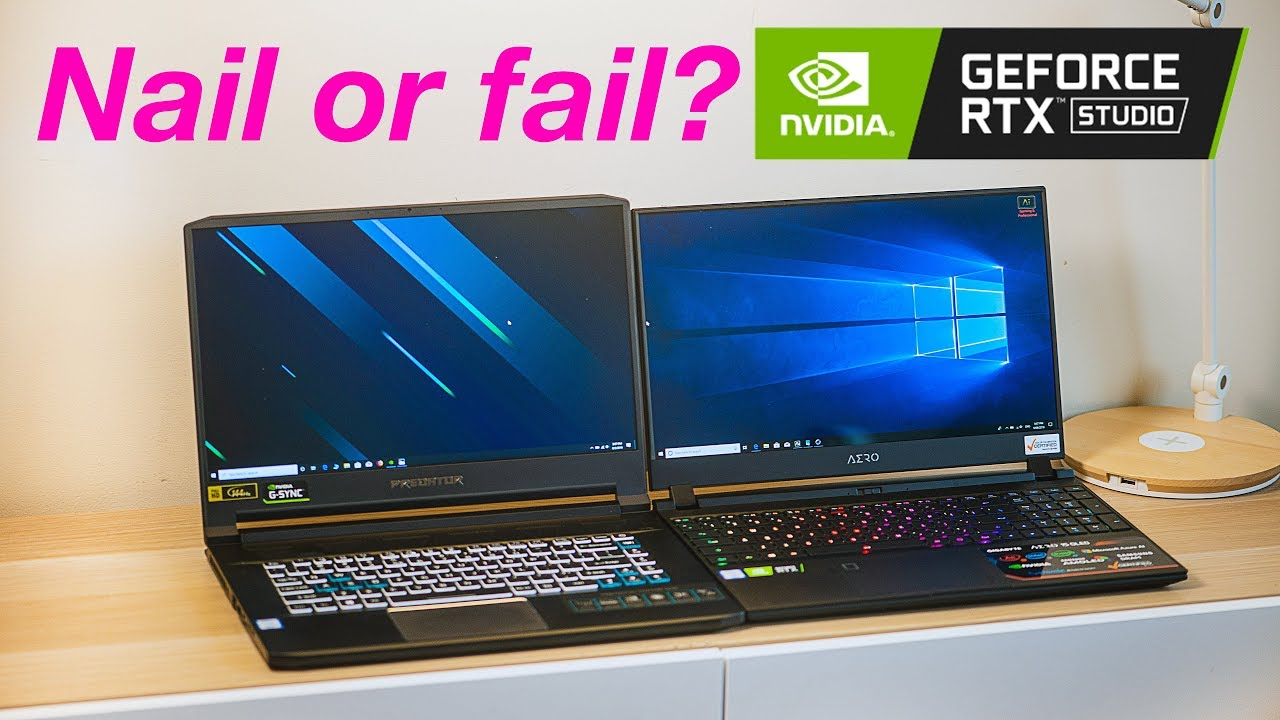 Nvidia Studio Laptop Vs Gaming Laptops Benchmarks | Whats the Difference?