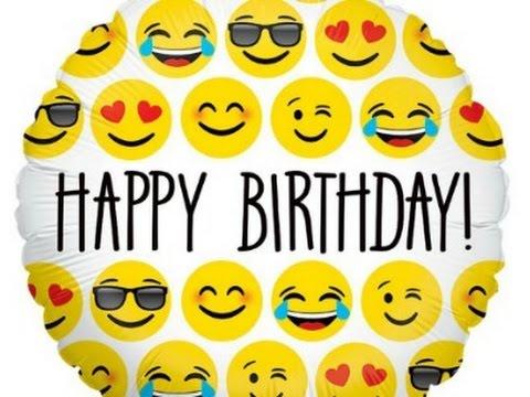 Unboxing Emoji Birthday Decorations