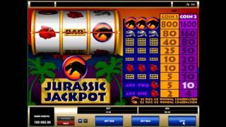 Игровой слот  Джекпот Юрского периода (jurassic jackpot) - обзор характеристик от casinoavtomaty.com(, 2016-02-26T18:27:34.000Z)