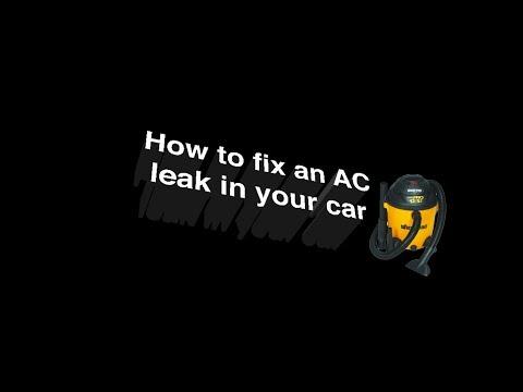 How to fix a clogged AC Tube leak (Subaru)