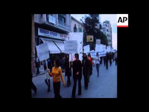 SYND 22-11-73 DEMONSTRATION IN NICOSIA IN SUPPORT OF GREEK STUDENTS