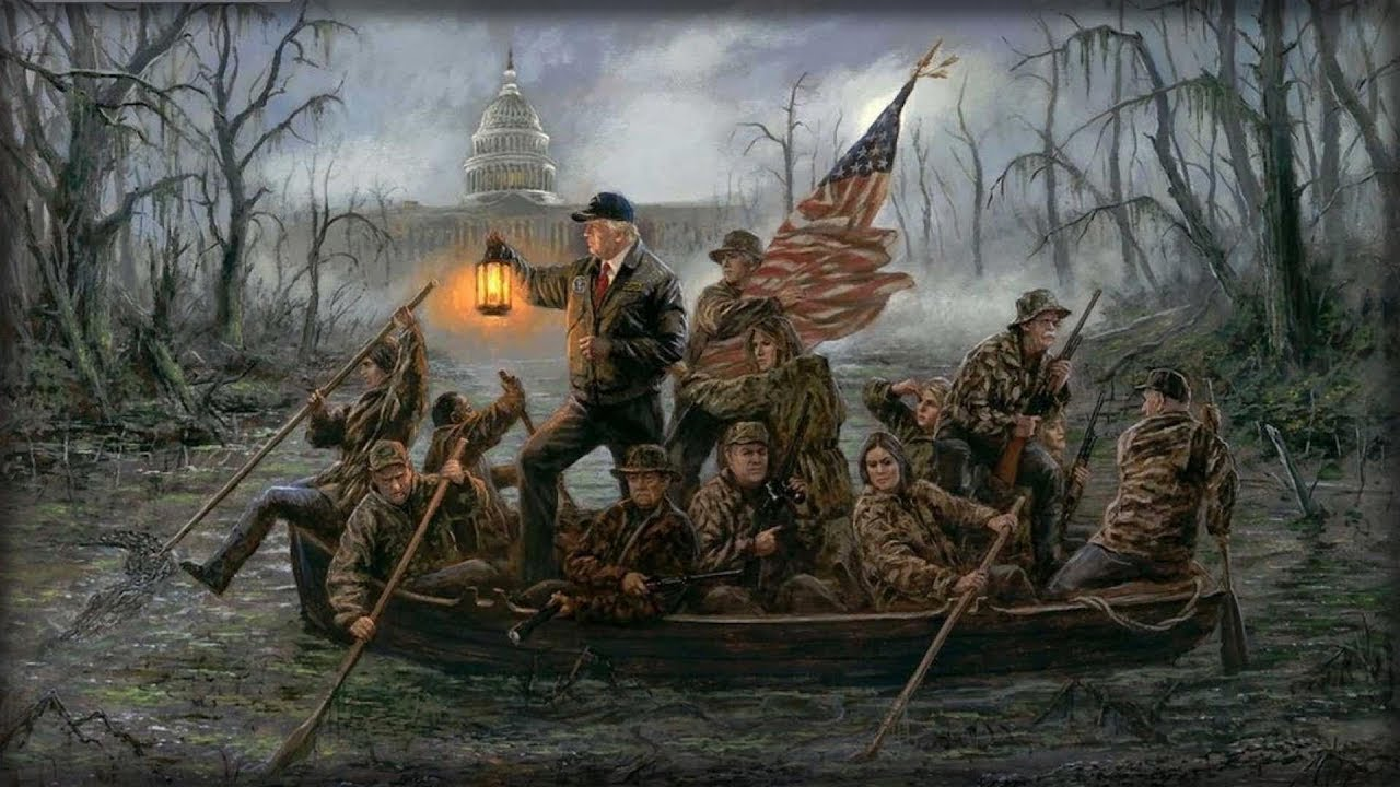 this-amazing-painting-of-trump-s-wh-team-crossing-the-swamp-just-triggered-the-left-huge