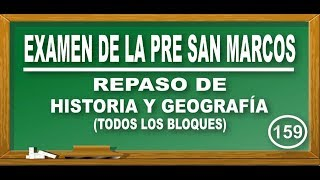 REPASO DE HISTORIA Y GEOGRAFÍA : EDAD MEDIA - INCAS - CONTAMINACIÓN / EXAMEN PRE SAN MARCOS DE PERÚ