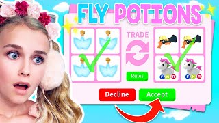 Trading FLY POTIONS ONLY In Adopt Me! (Roblox)