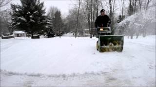 John Deere Snowblower 1032D In Action GO PRO Wausau WI