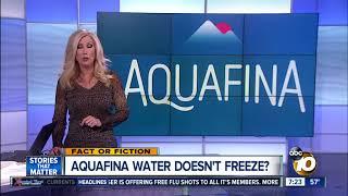 Aquafina doesn't freeze?