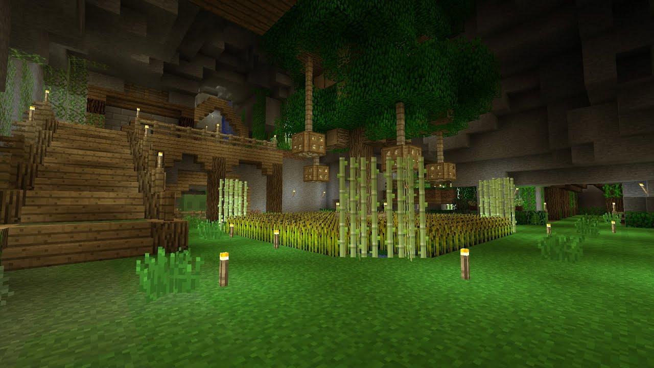 Minecraft UnderGround Base Tour YouTube