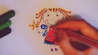Как нарисовать принцессу. Видео для девочек/ Рисуем принцессу How to draw a Princess(Если Вам понравилось видео, подписывайтесь на мой канал: https://www.youtube.com/channel/UCqy7--XK7XV6feslvKXeirQ Видео для девочек..., 2016-10-14T12:43:22.000Z)