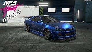 NFS Heat Studio - Nissan Skyline GT-R V-Spec 1999 (R34) Customization