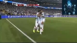 شاهد ملخص مباراة الارجنتين وتشيلي في كوبا امريكا 7 6 2016