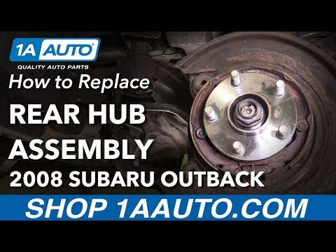 How to Replace Rear Wheel Hub Assembly 05-09 Subaru Outback