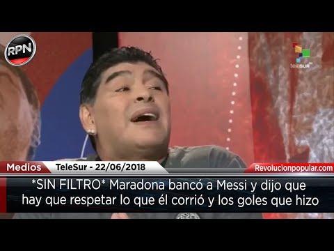 *SIN FILTRO* Maradona bancó a Messi y dijo que hay que respetar lo que él corrió thumbnail