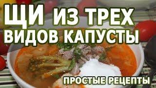 Рецепты блюд. Щи из трех видов капусты рецепт приготовления