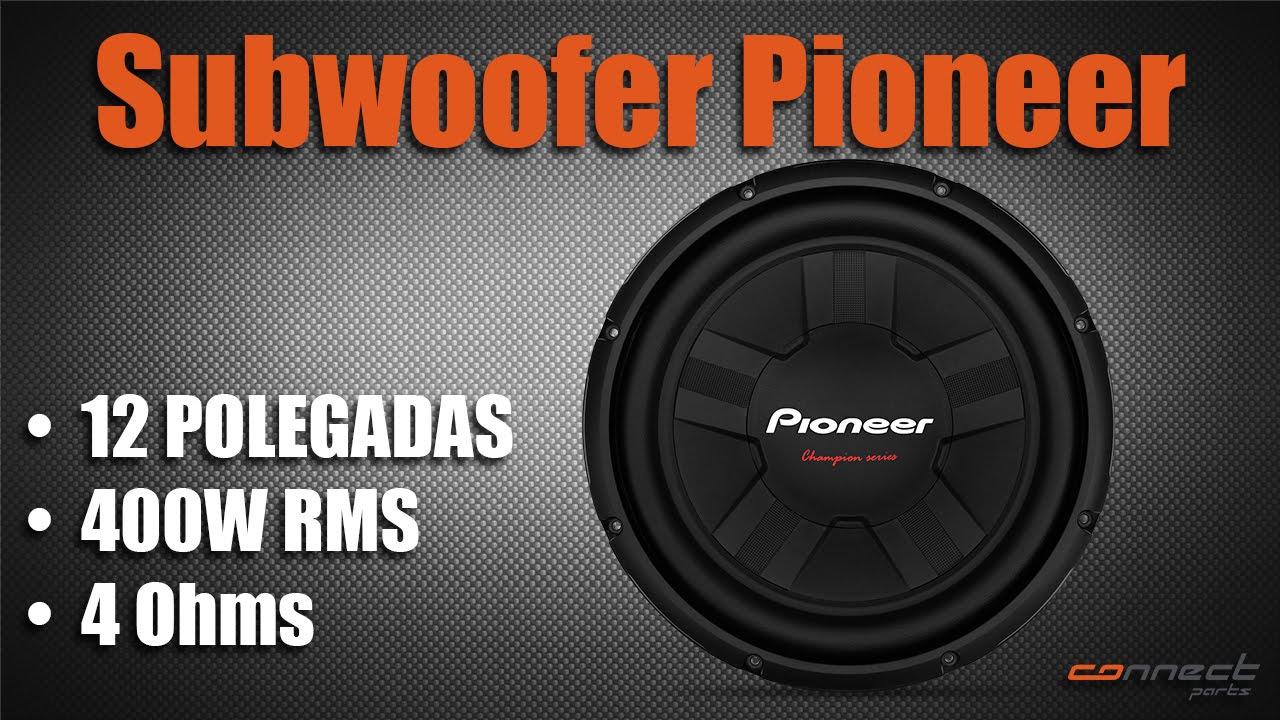 Subwoofer Pioneer 12 Polegadas 400W RMS - YouTube 6f4db28b1e8