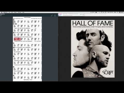Hall Of Fame Chords at MyPartitur