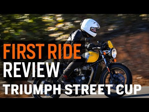 Triumph Street Cup First Ride Review at RevZilla.com